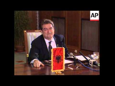 ALBANIA: TIRANA: PRESIDENT SALI BERISHA PRESS CONFERENCE