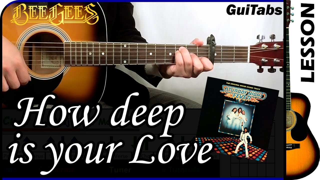 How To Play How Deep Is Your Love Bee Gees Guitar Tutorial