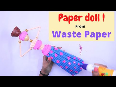 DIY Handmade Doll Making From Paper / Easy Paper Craft Idea / Paper Doll Making (SUPER EASY)