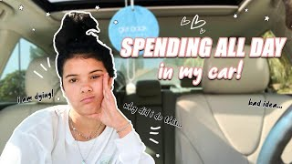 24 HOURS LiViNG IN MY CAR! *overnight challenge