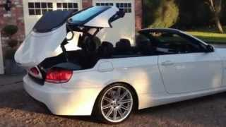 BMW 330D M SPORT AUTO CONVERTIBLE 2008 FOR SALE ALPINE WHITE