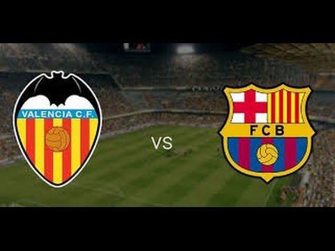 la  liga  Valencia vs Barça 1997 1998