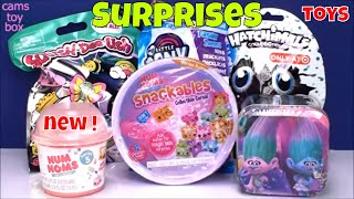 Series 5 Num Noms Cereal Surprise Toys Trolls Tin Hatchimals Squish Dee lish MLP Opening