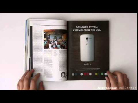 Moto X Ad   WIRED Interactive Print Ad