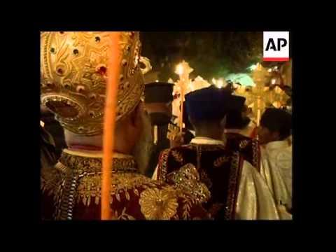 Coptic Christian Easter celebrations in Jerusalem