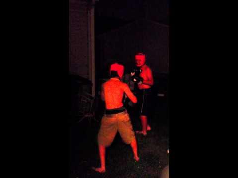 Randy (Tan) vs. Austin (Black) Pt 1