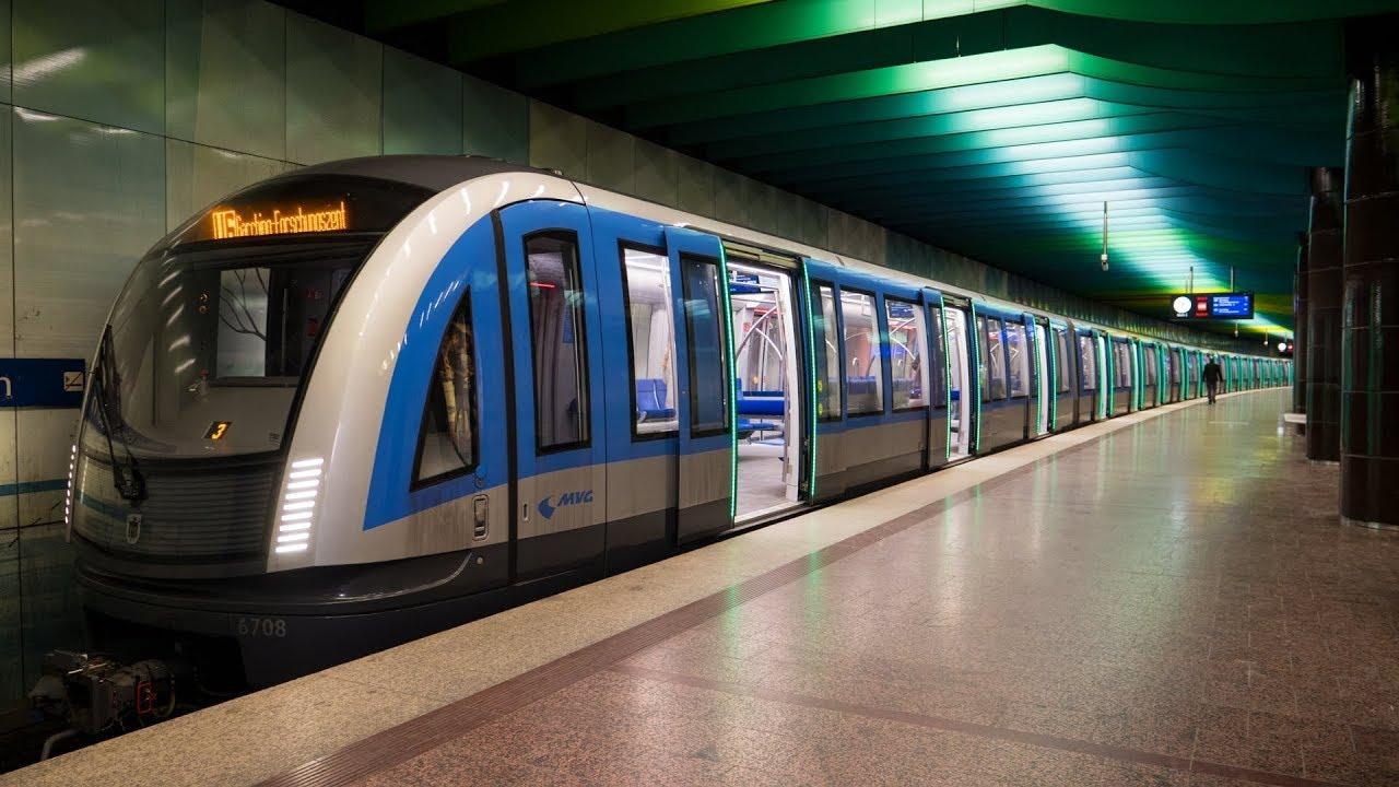 U-Bahn München - Impressionen März 2018 [4K50P] - YouTube