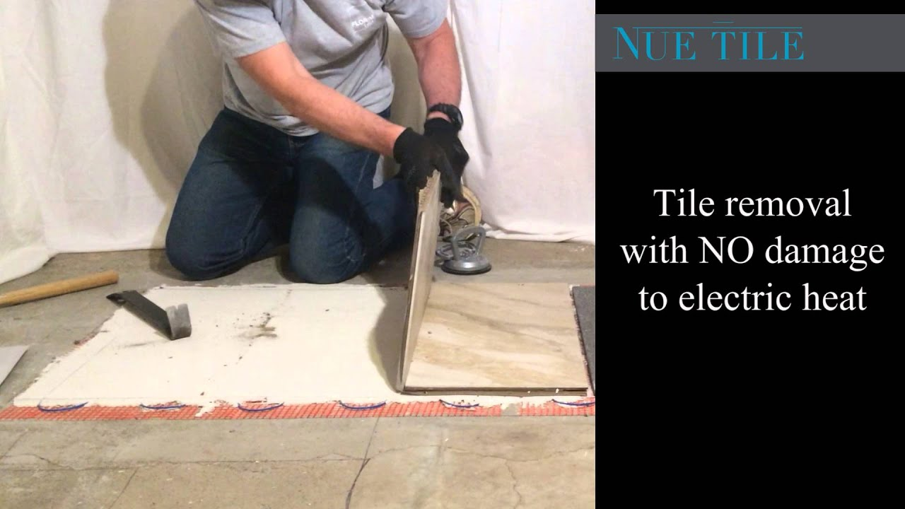 How to remove tile on electric heat with nue tile youtube how to remove tile on electric heat with nue tile dailygadgetfo Images