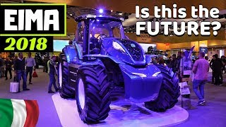 "EIMA International 2018 - New Holland T6 Methane Powered & ""Fiat Centenario"" Concept Tractors"