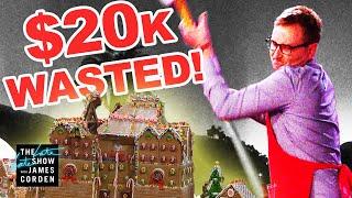 Baker Flips Out, DESTROYS $20k Gingerbread House!