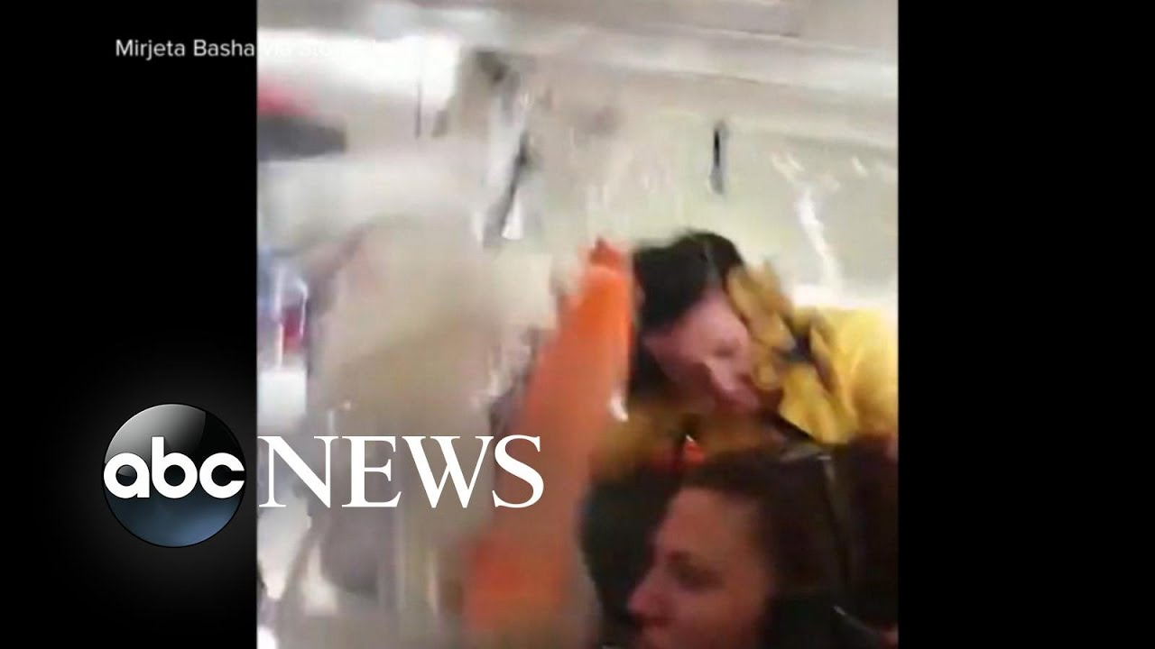 ABC News:Video shows a flight attendant hitting the ceiling of a 737 jet during rough air