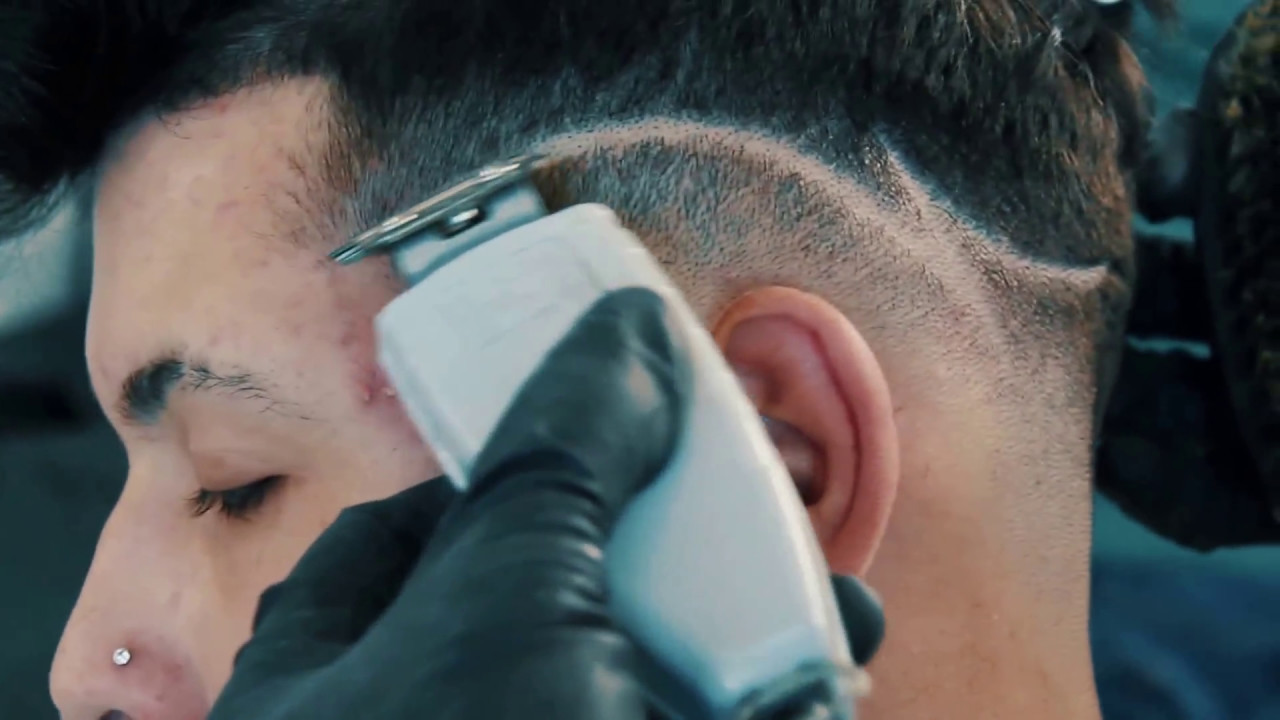 LowFade Haircut with Simple Design ,Manny the Barber , YouTube