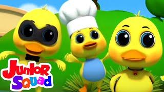 Download Mp3 Lima bebek kecil Puisi untuk anak Kartun anak Junior Squad Indonesia Bayi sajak