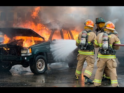Frederick County Fire Training Academy Class 21 Car Fire