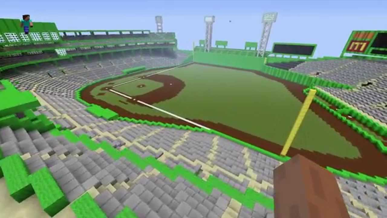 Fenway park in minecraft youtube malvernweather Image collections