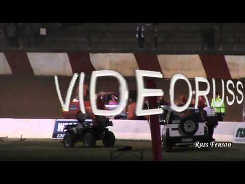 Brad Mock HUGE Legend car Roll - Sydney Speedway 27-04-13