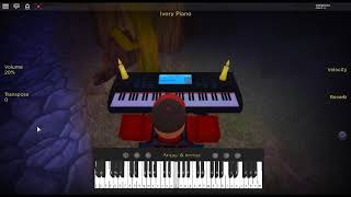 Happier by: Marshmello ft. Bastille on a ROBLOX piano.