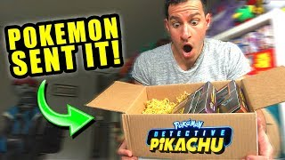 *DETECTIVE PIKACHU MOVIE SENT ME A BOX!* Opening NEW Pokemon Cards Booster Packs!