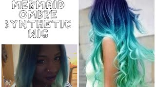 DIY| Mermaid Ombre Synthetic Wig