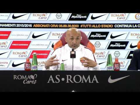"""La conferenza di Spalletti: """"Io mi emoziono tutte le volte che la Roma scende in campo"""""""