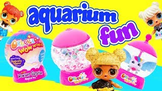 LOL Surprise Doll Aquarium Orbeez Wow World Surprises with Finding Dory and Hatchimals!