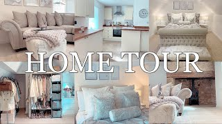 MY NEW HOME TOUR! LUXE ON A BUDGET | GREY+WHITE/CREAM+CHAMPAGNE DECOR INSPO! | Gemma Louise Miles