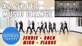 [Koreos Variety] EP57 x2 Speed Jennie Solo + Music Change Mino Fiance