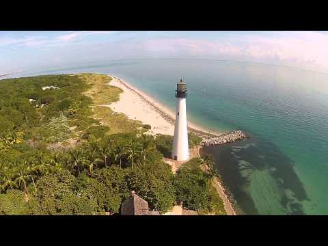 Key Biscayne lighthouse drone flyover
