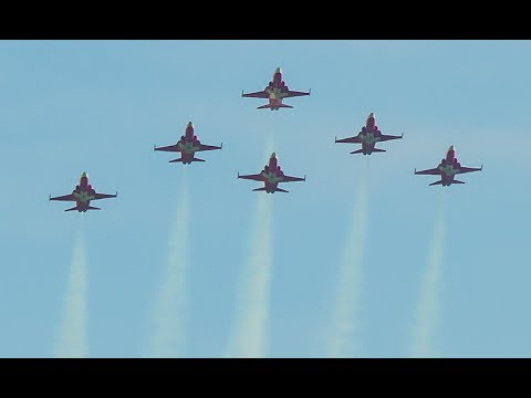Patrouille Suisse (6x Northrop F-5E Tiger II) - Full Display at ILA Berlin Air Show 2014