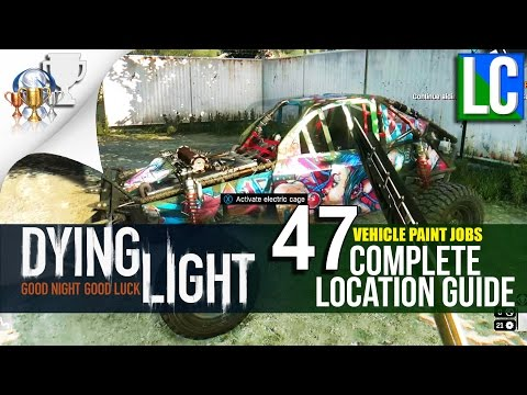 Dying Light The Following: ALL PAINT JOBS (Complete Guide)
