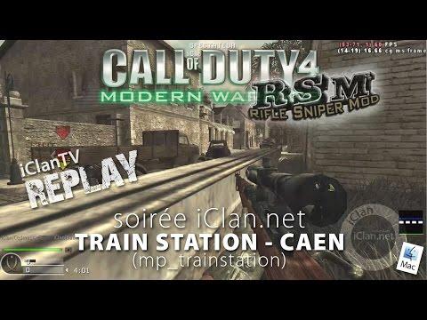 Soirée CoD4 sur TRAIN STATION à Caen, une map CoD2 en RSM (Rifle Sniper Mod)