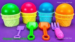 Play Doh Ice Cream Cups Surprise Eggs Disney Pixars Cars Zuru 5 Surprise Toys