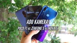 Adu kamera! Pocophone F1 vs Zenfone 5 vs Huawei Nova 3i