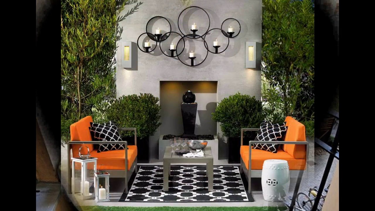 Mejor patio peque o jard n de decoraci n youtube for Decoracion jardin exterior pequeno
