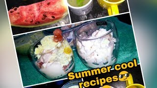Summer special recipes/China grass,sabja pudding/spicy lemon juice for summer
