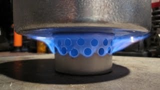 Super Cat Stove - Low Pressure Side Burner with Carbon Felt Inner Ring - Boil Test #2