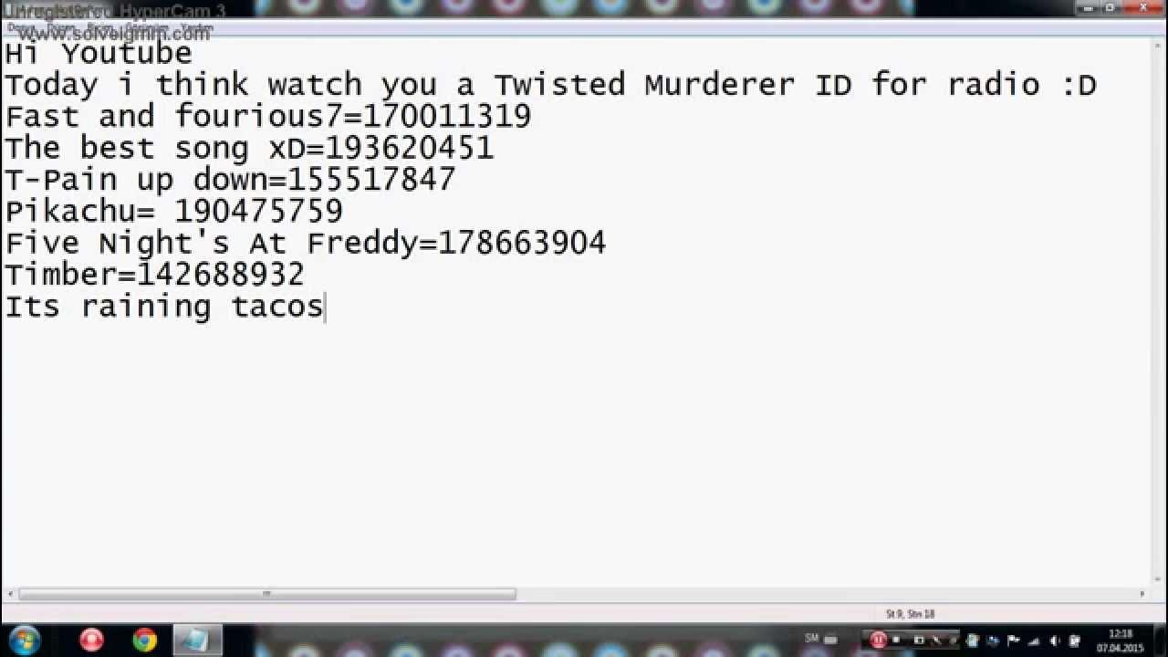 Twisted Murderer Radio Id D Youtube