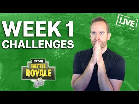 Finishing Off All The Season 4 Week 1 Challenges In FORTNITE!