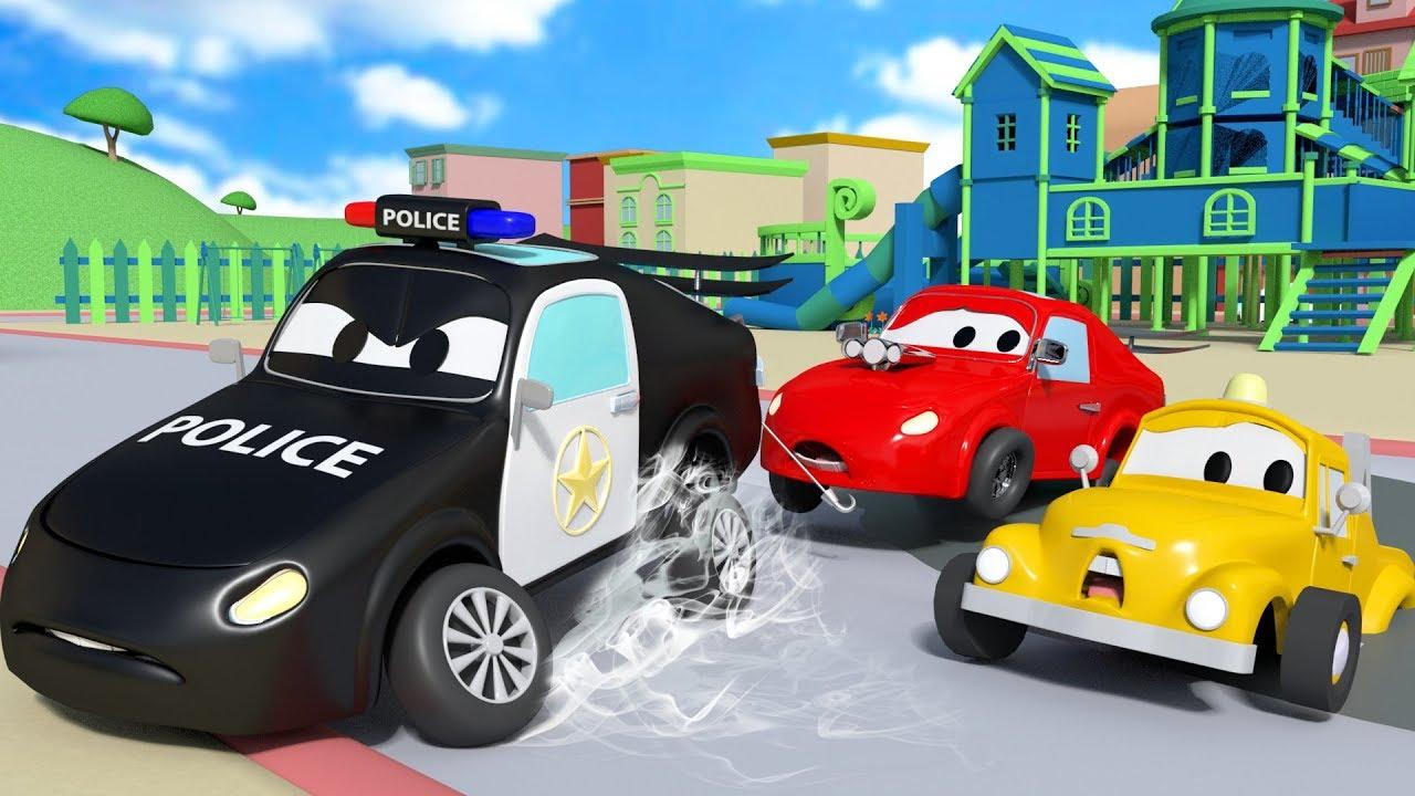 Những chiếc xe nhỏ bị mắc kẹt trong xi-măng - những bộ phim hoạt hình về xe tải dành cho thiếu nhi