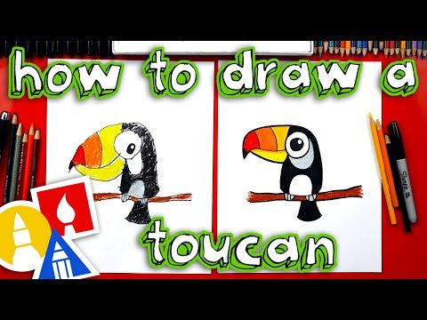 How To Draw A Cute Cartoon Toucan