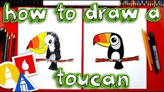 a toucan for kids drawing lesson