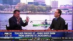 Teacher Finishes St. Johns River Swim from Sanford to Jacksonville