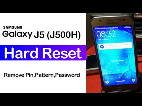 How to Hard Reset Samsung Galaxy J5 (J500H) Easy Method 2020