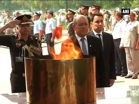 French Defence Minister pays homage to martyrs at Amar Jawan Jyoti - ANI News