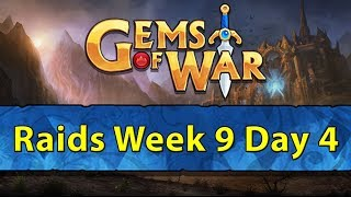 ⚔️ Gems of War Raids | Week 9 Day 4 | Orb Hunting and Knight Hero Class Event ⚔️