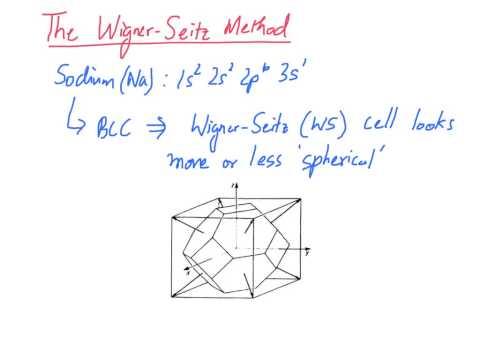 16 Wigner Seitz Method
