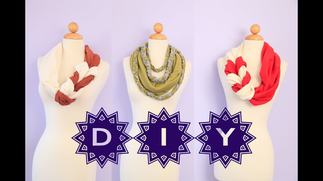 Diy cute braided scarves no sew easy how to gift ideas youtube solutioingenieria Images