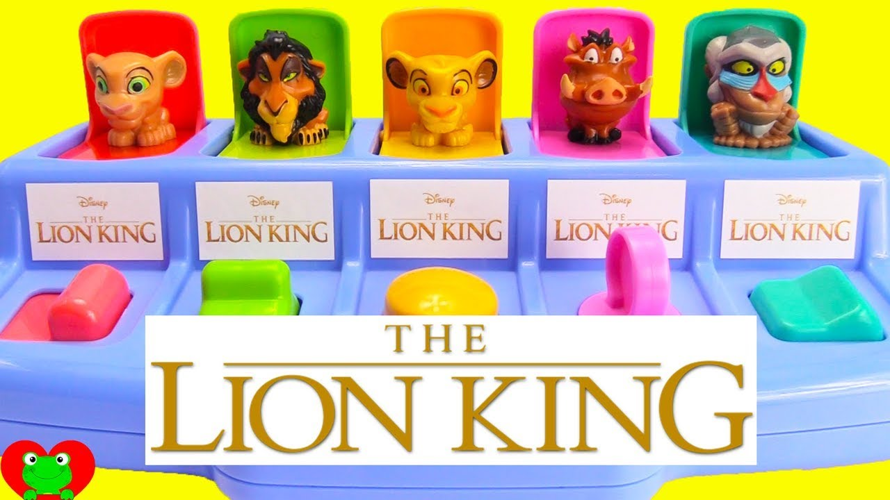 - The Lion King Pop Up Surprises Teaching Numbers And Colors - YouTube