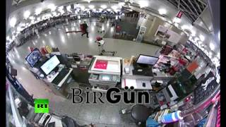 CCTV Footage: Istanbul airport attacker frantically looks for victims