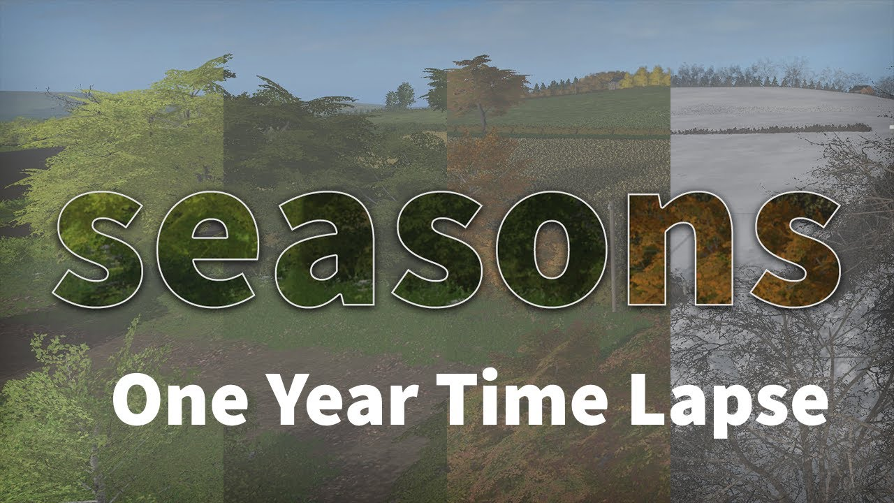 Farming Simulator 17 - Seasons Mod - One Year Time Lapse